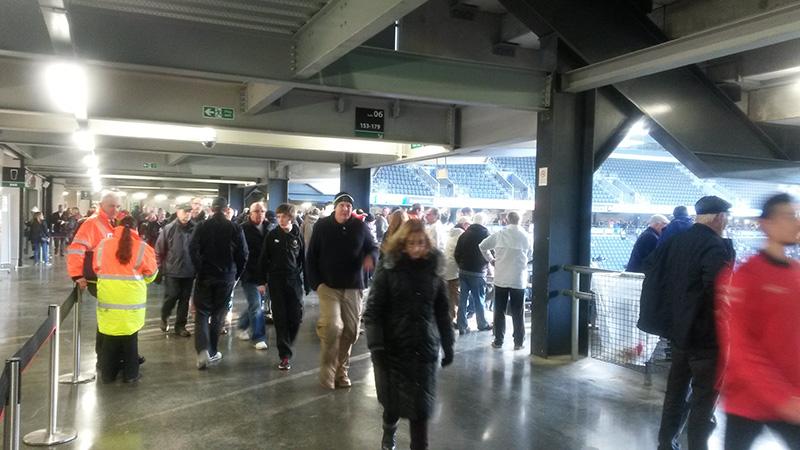 Open concourse at Stadium MK