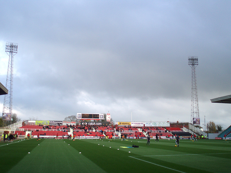 The away end at the County Ground Swindon