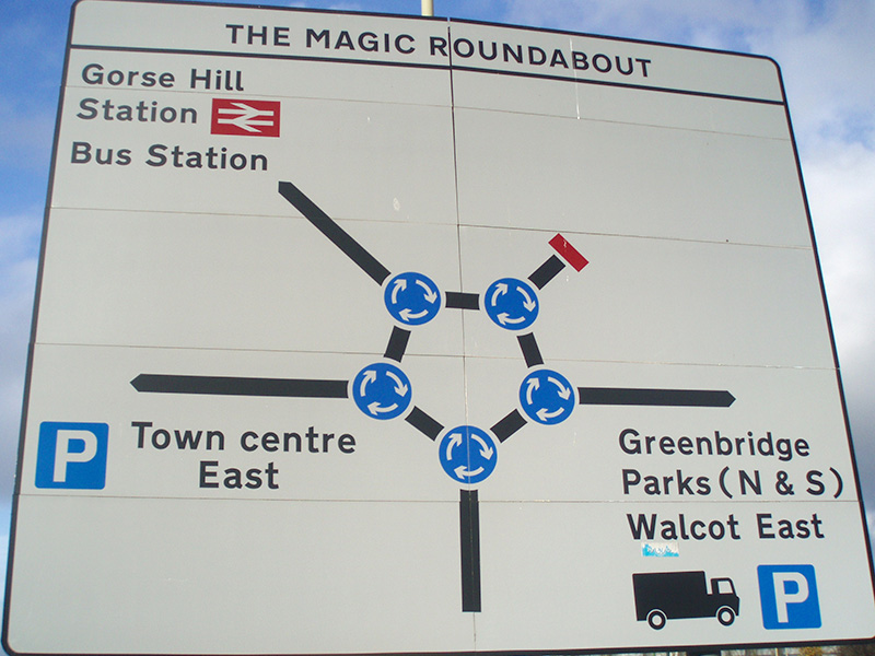 Swindon's famous magic roundabout