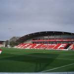 The main stand at Fleetwood Towns Highbury ground