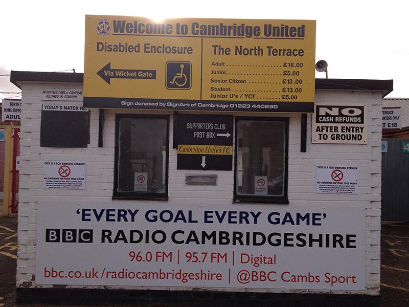 Cambridge United ticket office