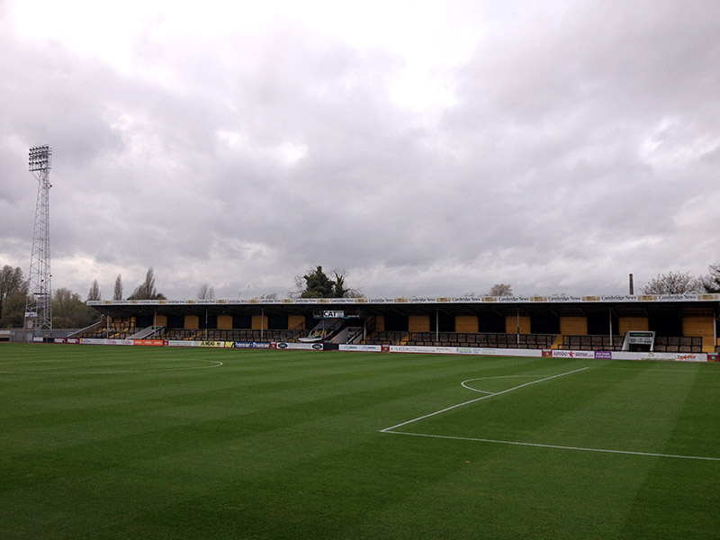 Tim Dove visits the Abbey Stadium doing the 92 grounds