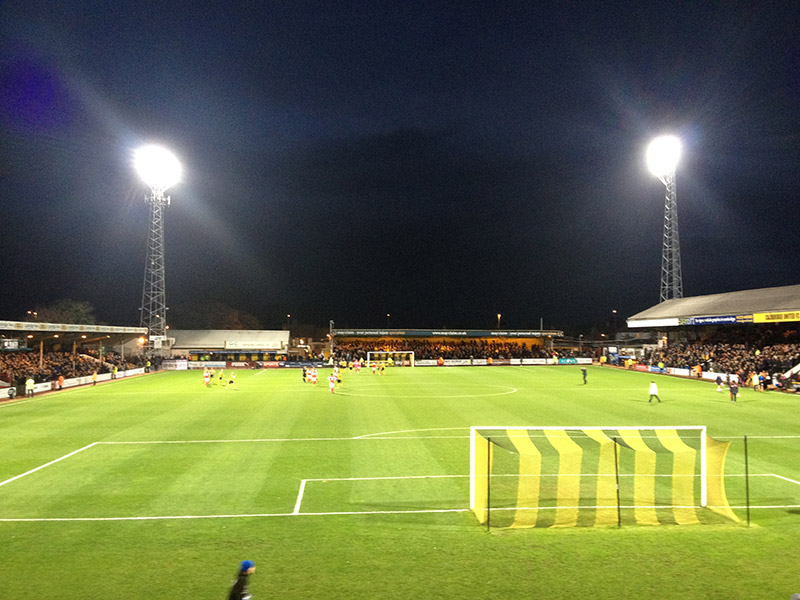 Cambridge United v Fleetwood Town in the FA Cup first round 2014