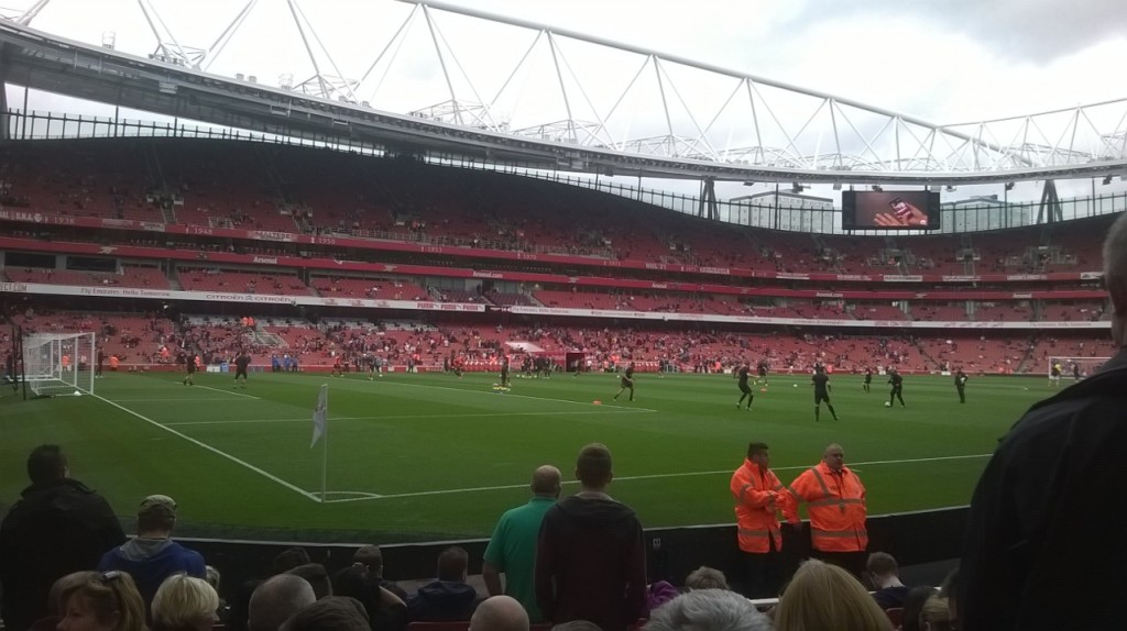 The Emirates Stadium before the Premier League match between Arsenal and Hull City