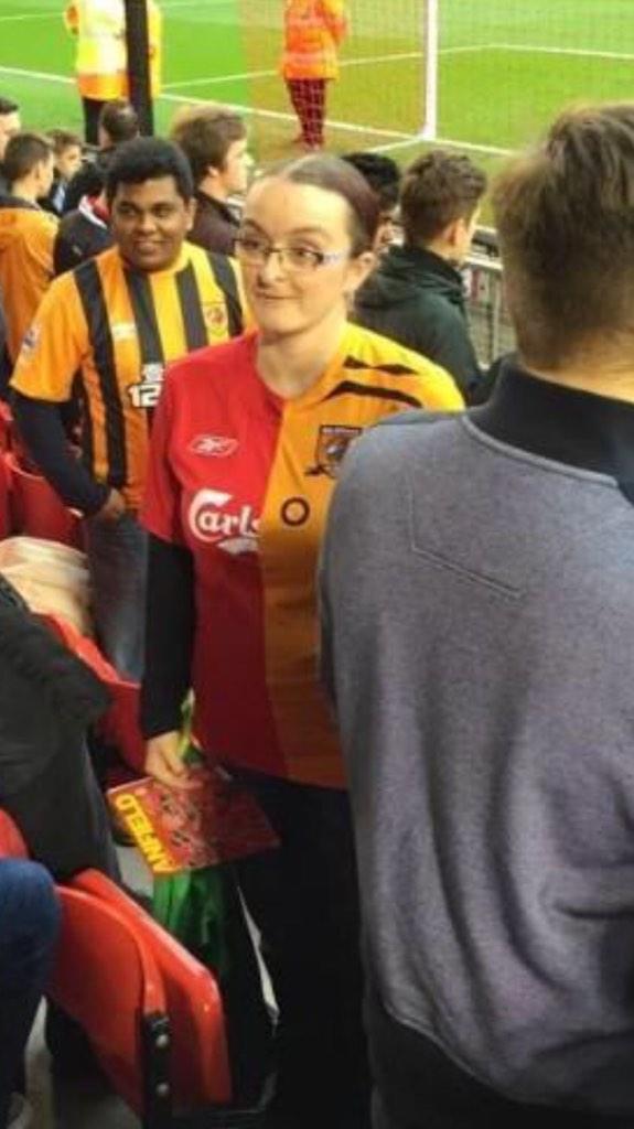 Hull / Liverpool half and half shirt