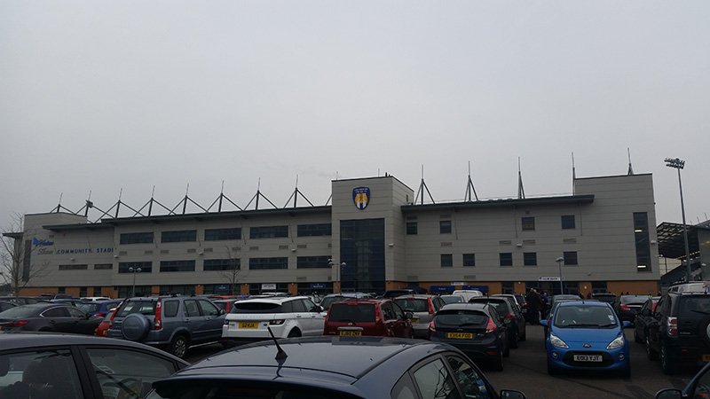 Main Stand at Colchester United Weston Homes Community Stadium