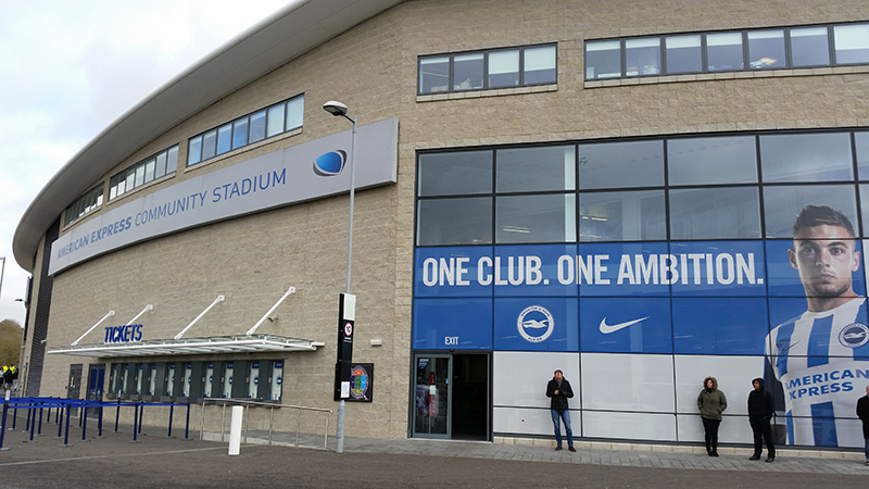 The home ground of brighton and hove albion