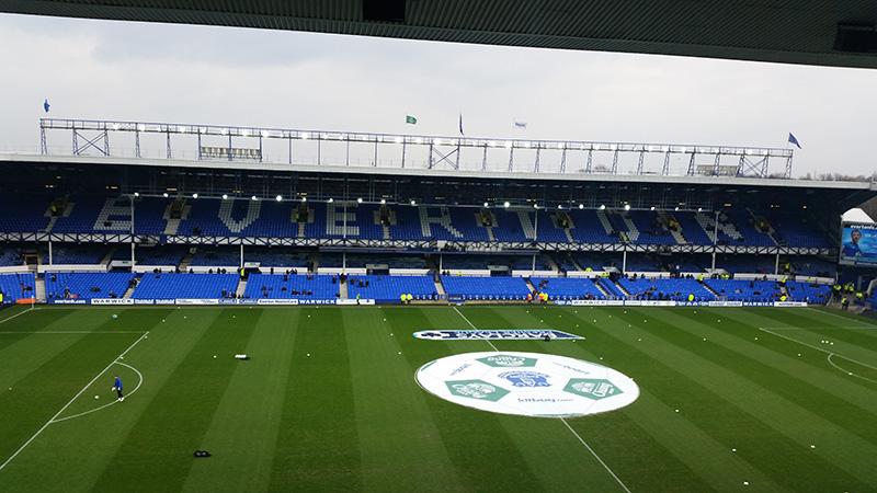 Goodison Park the home of Everton Football Club