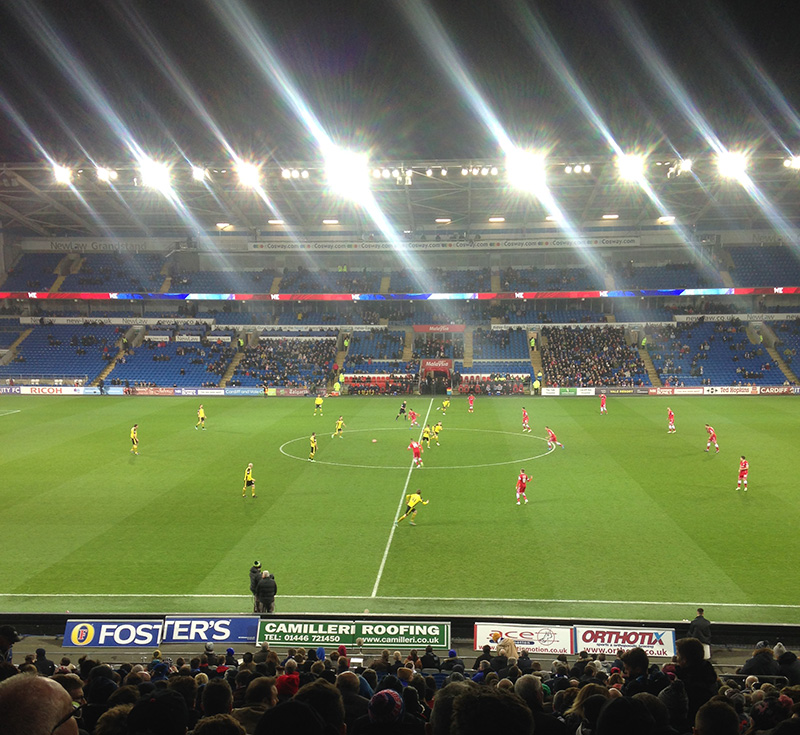 Cardiff city v colchester united