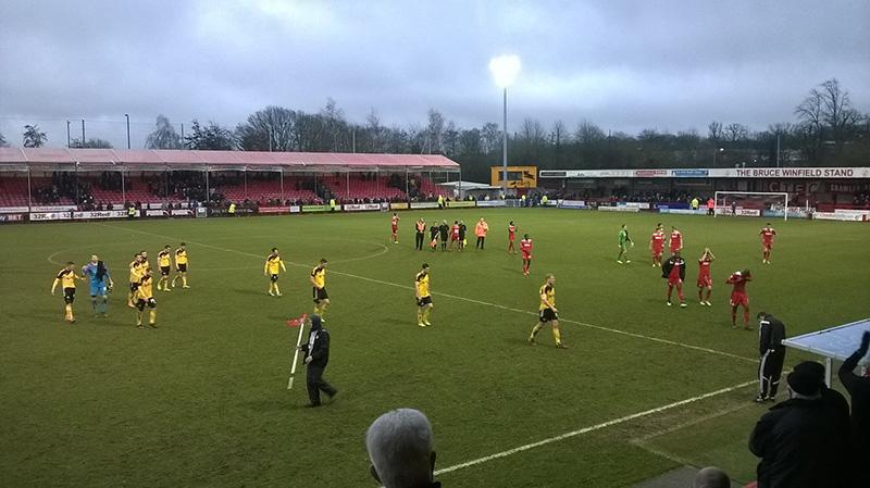 Final whistle crawley town v sheffield utd at broadfield stadium