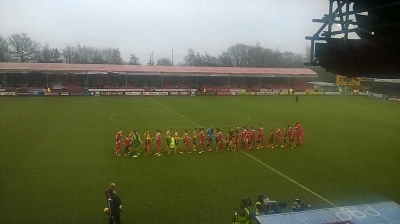 Crawley v Sheffield United in league  2 at the Checkatrade.com stadium