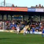 AFC Wimbledon v Tranmere Rovers League 2 at Kingsmeadow Stadium