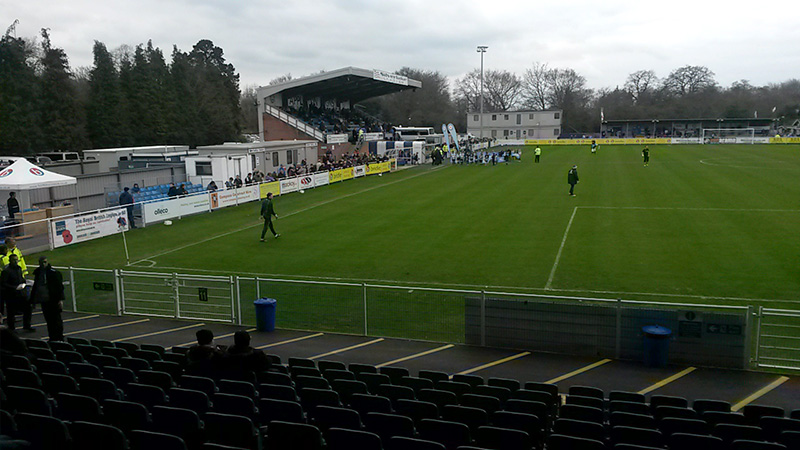 The Grandstand at Eastleigh's Silverlake Stadium