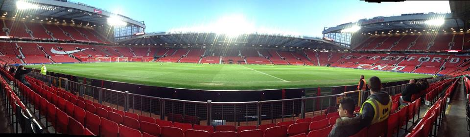 panoramic photo of old trafford the ground of premier league manchester united