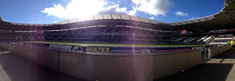 Panoramic of Hull City's KC Stadium