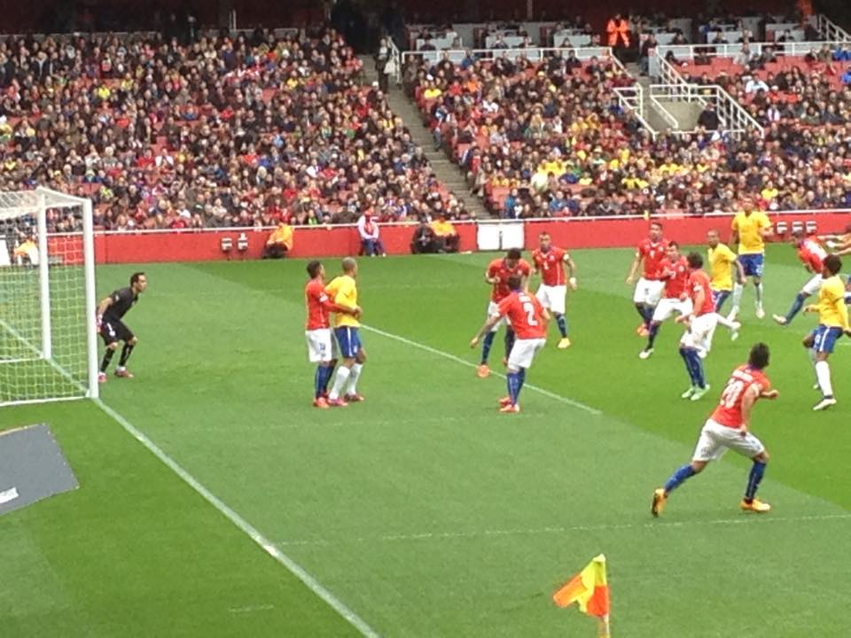 Brazil take on Chile at Arsenal's ground