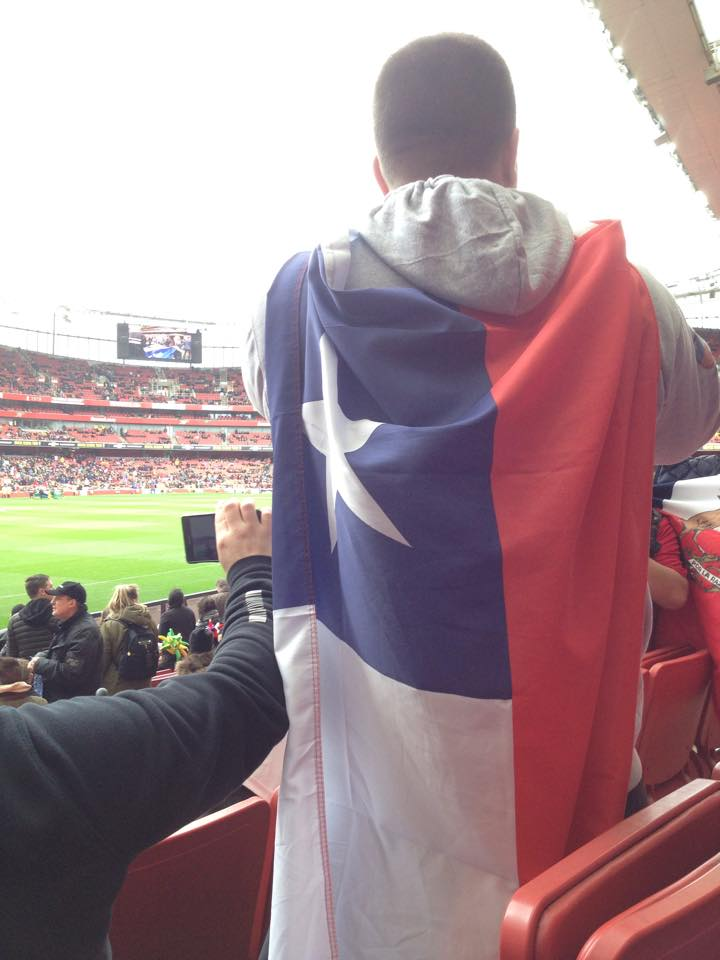 Chile fans at the Emirates Stadium