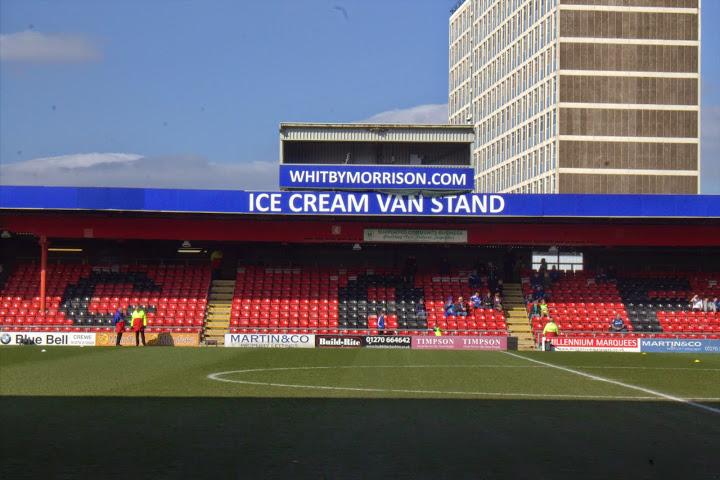 Ice Cream Van Stand at Crewe's Alexandra Stadium