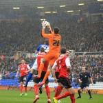 arsenal goalkeeper Emilio Martínez on loan at rotherham united playing against birmingham