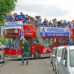 Bristol rovers open top bus parade promotion conference playoffs 2015