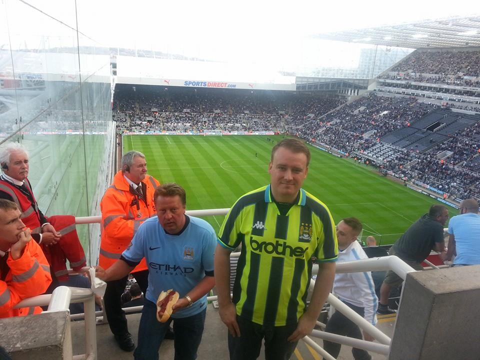 Manchester City away at Newcastle's St James Park