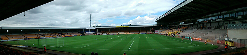 Panoramic of port vale's vale park stadium