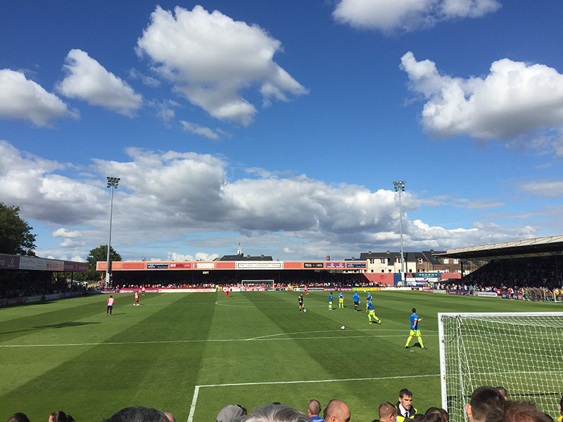 Hartlepool warm up at York City's Bootham Crescent
