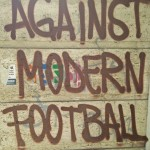against modern football graphite slogan.