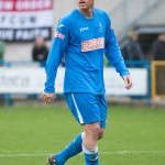 Former Blackpool and Southampton striker Brett Ormerod playing for Padiham