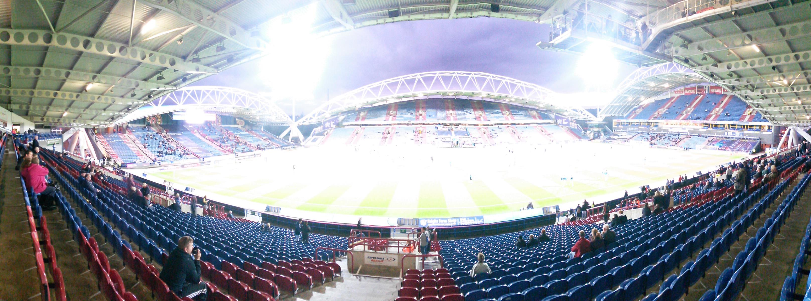 panoramic of john smith's stadium once the mcalpine stadium huddersfield