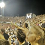 A view of the crowd when Partizan took the lead 3-2