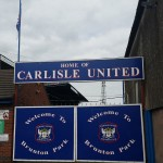 gates at brunton park the home of league 2 side carlisle united