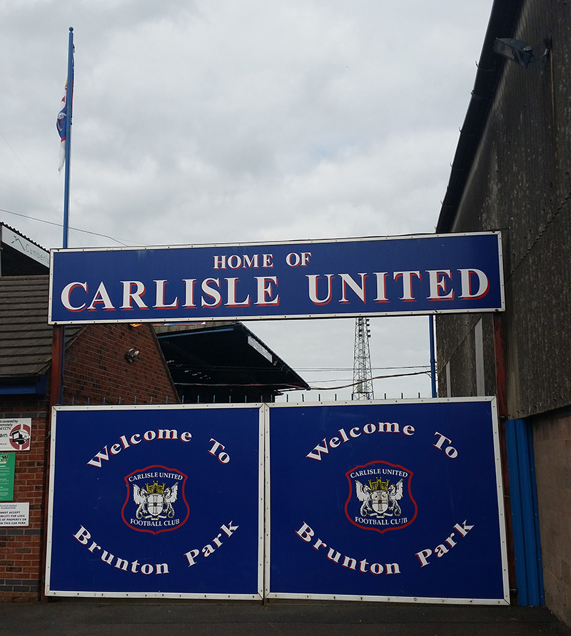 gates at brunton park the home of league 2 side carlisle united