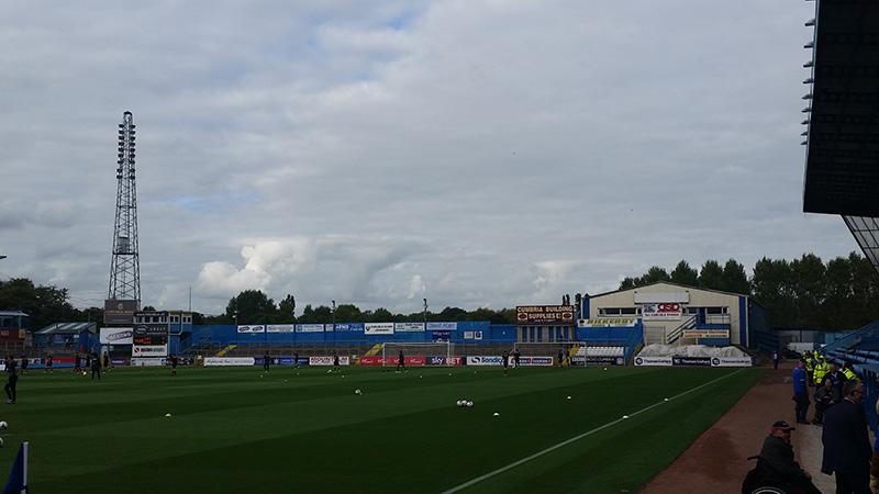 terrace behind the goal at brunton park