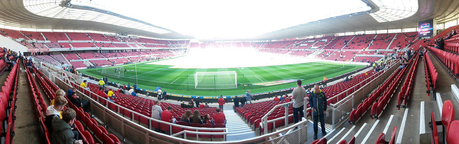 panoramic of the riverside middlesbrough