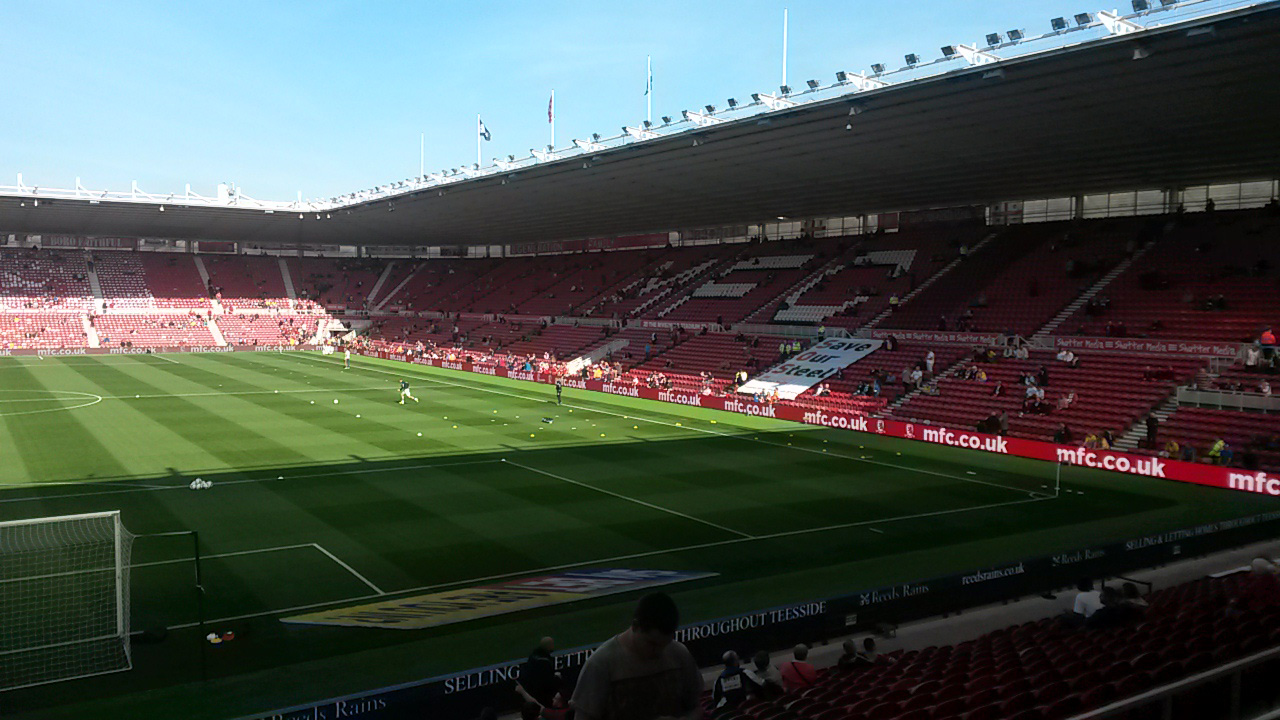 the Riverside stadium home of championship side middlesbrough
