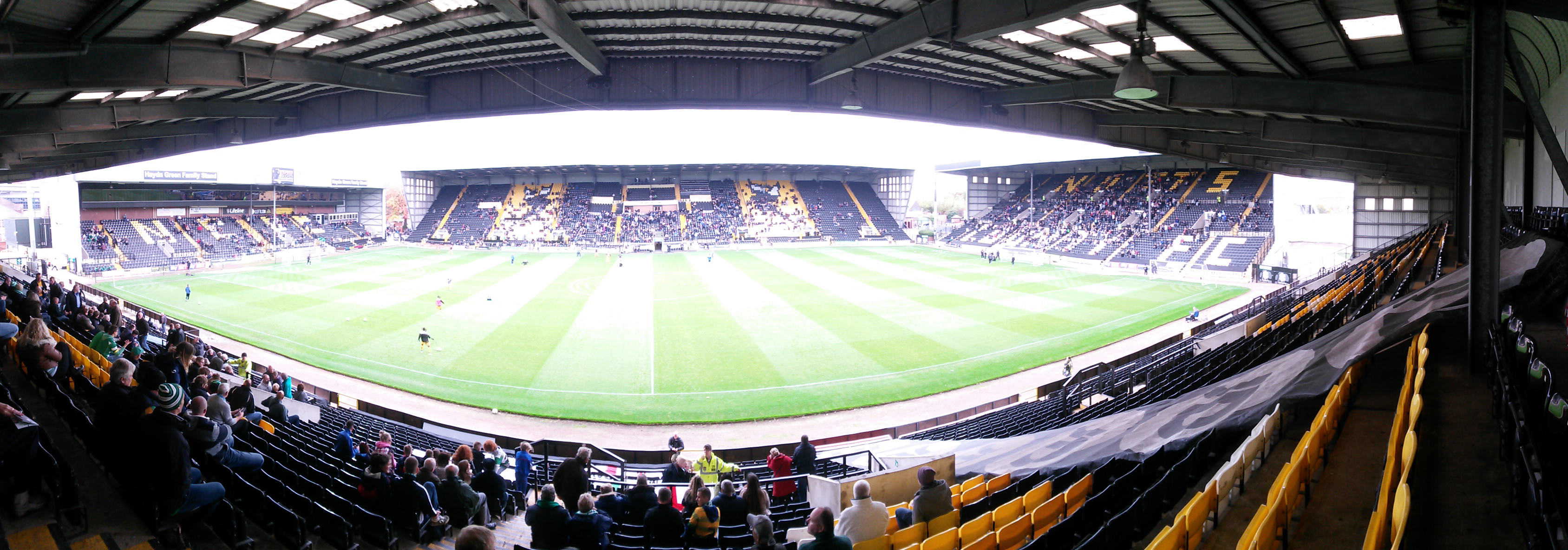 panoramic of meadow lane notts county