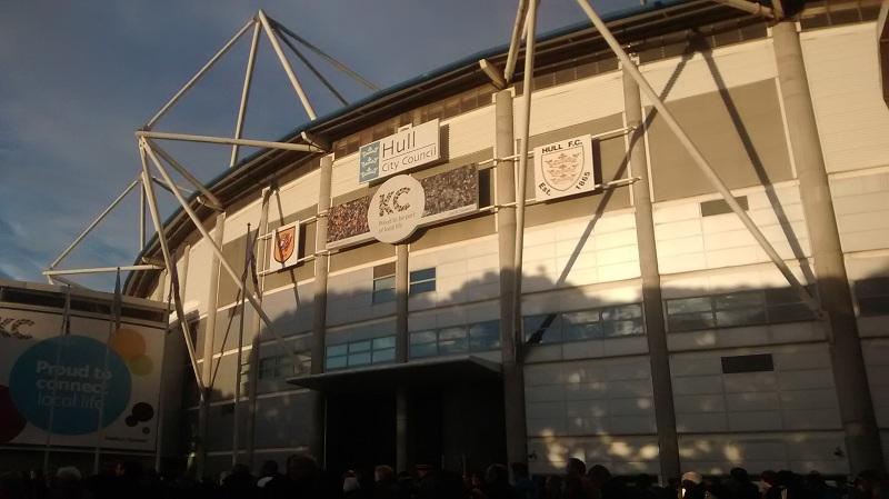 outside the kc stadium hull humberside