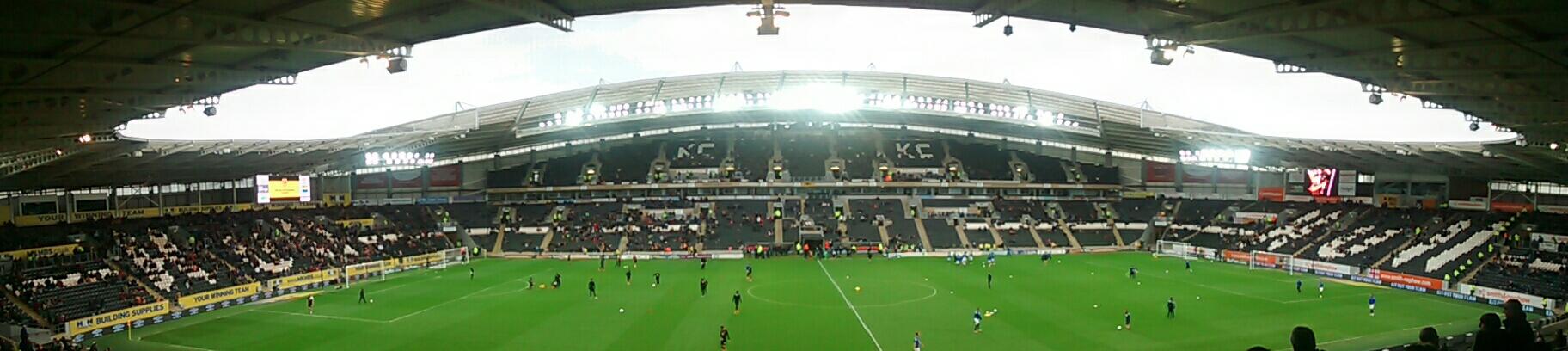 panoramic of the kc stadium hull