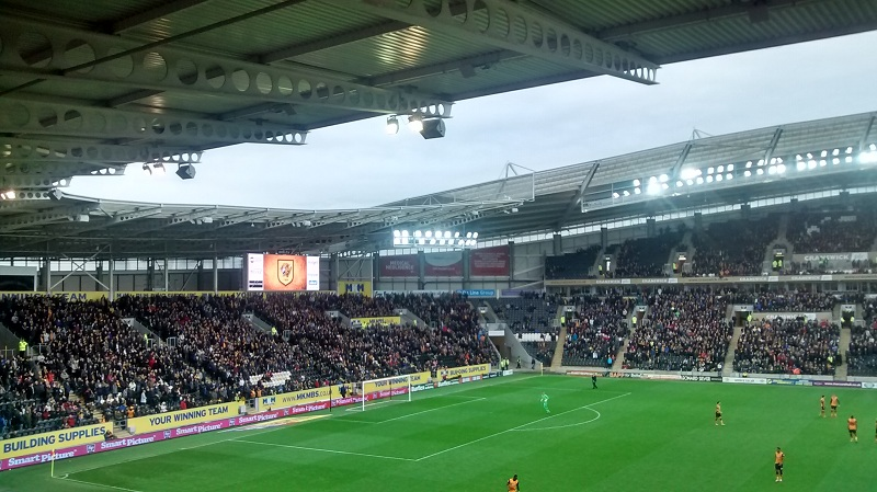 crowd at the kc stadium for hull v birmingham