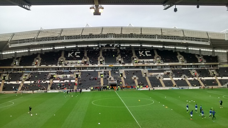 KC Stadium the home of championship side hull city tigers