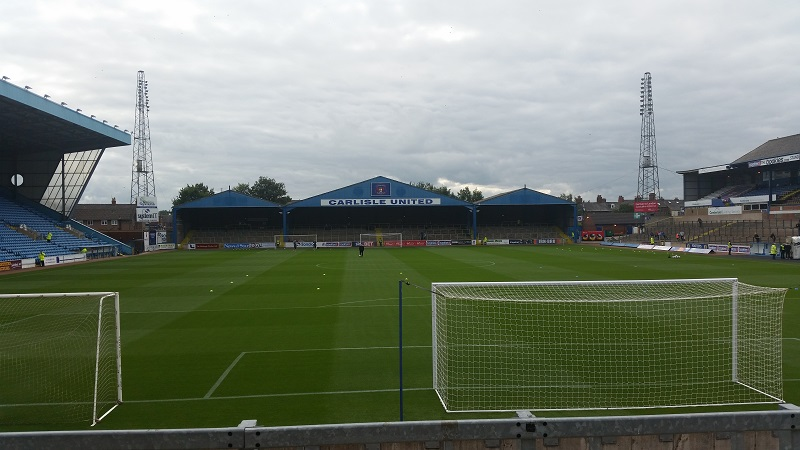 Tim completed doing the 92 grounds at Carlisle united's brunton park