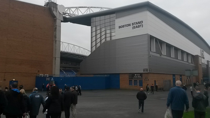boston east stand at the dw stadium wigan