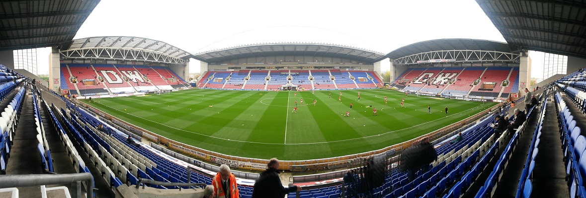 panoramic of the dw stadium, home of wigan athletic