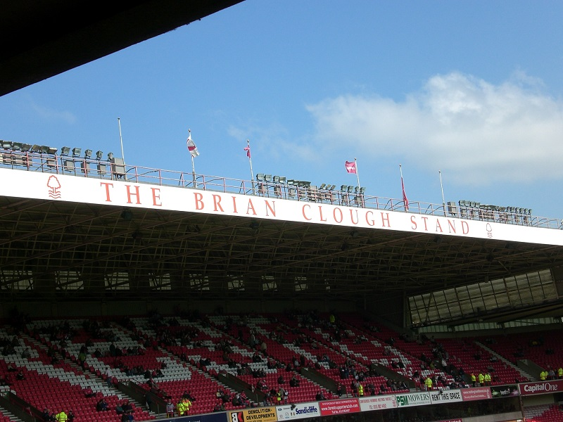 brian clough stand at the city ground nottingham forest