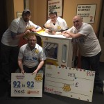 Andy Matthews, Dan Frost, Robbie Bruce and Andy Hunt fundraising 92 in 92 for children in need