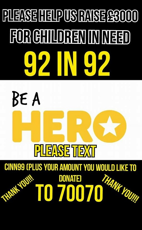 support the 92 in 92 challenge for children in need