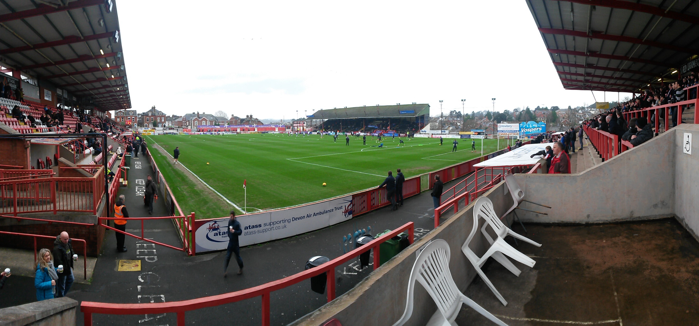 panoramic of exeter city st james' park
