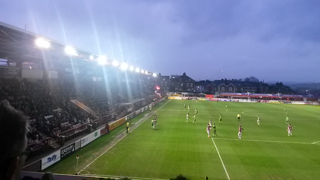exeter city v afc wimbledon 0-2 league 2 december 2015