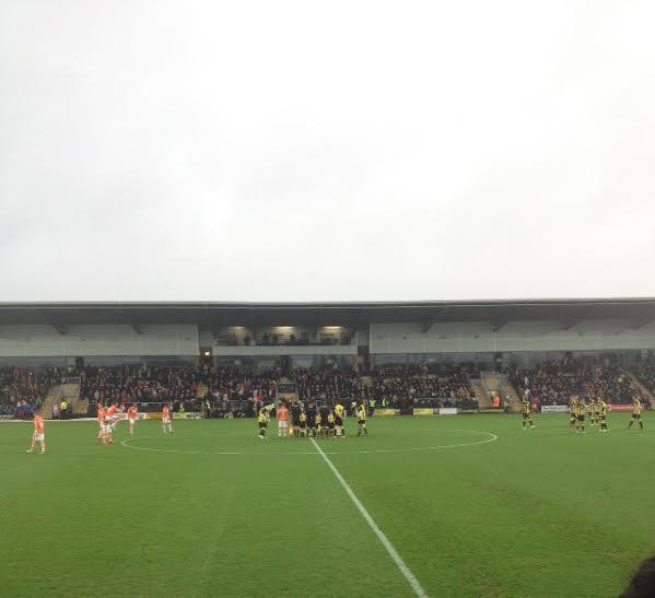 Burton Albion v Blackpool at the Pirelli Stadium League 1